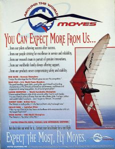Art based on the Moyes Xtralite advert in Hang Gliding, July 1995