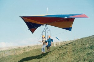 Photo of a hang glider in 1975