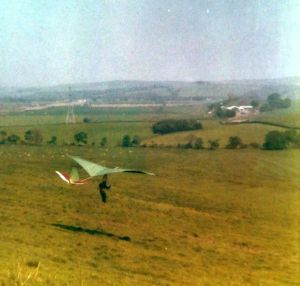 Miles Wings Gulp flight test in 1975