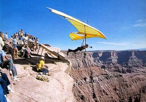 John Brant launches in his Seagull 10 Meter at Moab, Utah
