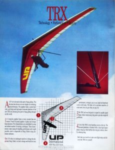 Advert for the Ultralight Products TRX in Hang Gliding, September 1991