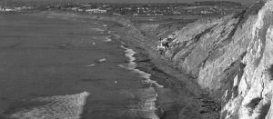 Louis Dart's 'flotsam house' on Torrance Beach in about 1924