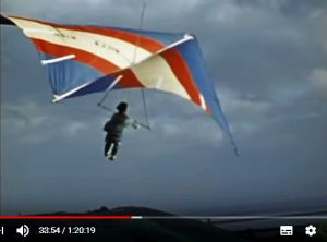 Bob Wills hang glider screenshot from Big Blue Sky by Bill Liscomb