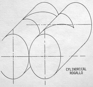 Cylindrical Rogallo geometry by Mike Riggs