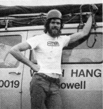 Hang gliding instructor Ashley Doubtfire in 1976