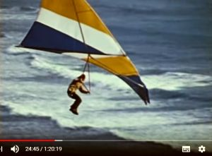 Dave Cronk hang glider screenshot from Big Blue Sky by Bill Liscomb