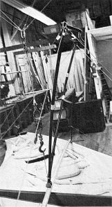 Sandbag strength testing an ASG-21 at the Albatross factory in California
