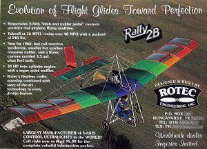 Rotec Rally 2B advert of 1982