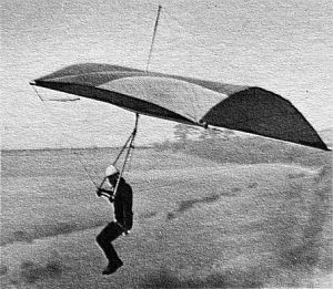 Philip Mann of London flying a Whitney Portawing in England