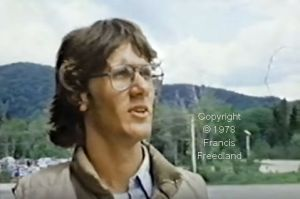 Leading hang glider pilot Tom Peghiny at Pico in 1978