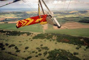 Hang glider over Kimmeridge, September 2000