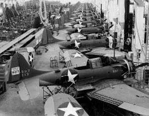 SBD5s at the Douglas factory in El Segundo