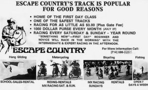 Escape Country advert, 1974