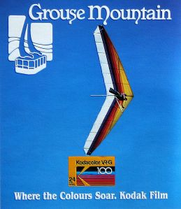 Art based on the Grouse Mountain and Kodak advert in Hang Gliding, July 1987