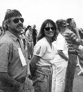 Brad and Donnita Hall (Donnita Holland) in 1992