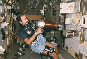 Wubbo Ockels aboard SpaceLab in 1985