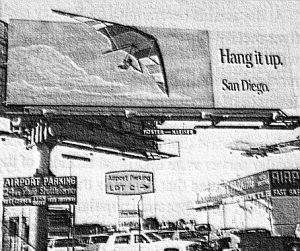 Art based on a photo by Larry Witherspoon of a billboard on Sepulveda Boulevard, Los Angeles International Airport