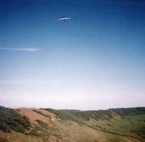Hang glider at Kimmeridge, Dorset, England
