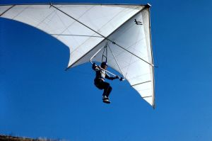 Frank Colver flying the prototype Wills Wing SuperSwallowtail