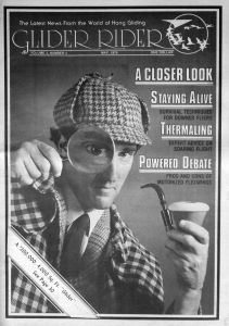 'Glider Rider' May 1978 cover photo of Charles Ashford (a Brit) as Sherlock Holmes