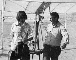 Taras Kiceniuk Jr. and Gene Shoemaker. Photo by Floyd Clark of Cal Tech.