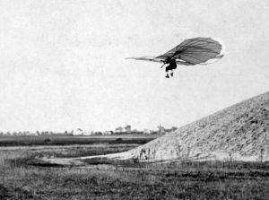 Otto Lilienthal flying in about 1895
