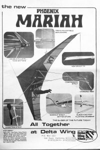 Phoenix Mariah advert in <em>Glider Rider</em>, July 1978. Reprinted courtesy of <em>Light Sport and Ultralight Flying</em> magazine.