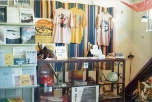 Ken de Russy's first hang gliding store in Santa Barbara, California