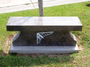 Stone bench commemorating the first hang glider meet, May 23, 1971