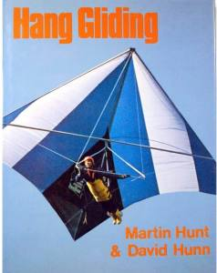 Book cover featuring a Hiway standard Rogallo hang glider with prone pilot
