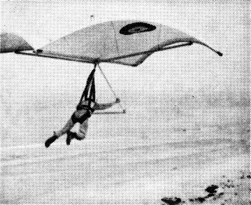Cylindrical Rogallo in From the Skysurfer magazine advert in Ground Skimmer, August 1973