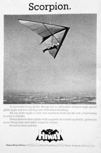 Hiway (Sussex, England) Scorpion hang glider of 1977