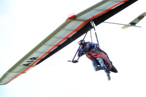 Rigid hang glider at Mere, Wiltshire, England, in June 2020