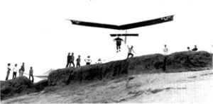 Quicksilver hang glider at Torrance in May 1973