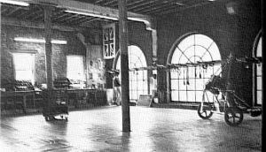 Inside Manta Products premises in 1982