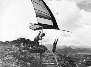 Hang glider launching