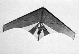 Wasp Nova hang glider of 1975 by Adrian Turner