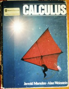 Calculus book cover featuring a hang glider