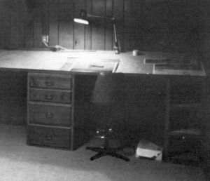 Dick Boone's design room in 1982