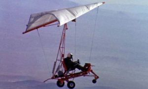 The 'paraglider research vehicle' (unpowered Rogallo wing) flight tested by Neil Armstrong