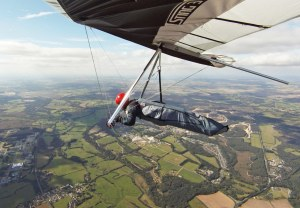 On the way to the coast in a hang glider in 2011