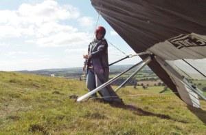 Hang glider self hang check