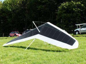 Wills Wing U-2 hang glider at Monk's Down, north Dorset, England