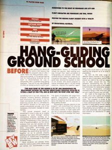 Hang Gliding Ground School program reviewed in PC Player magazine