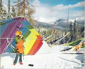 Ken de Russy preparing to fly a hang glider at North Star Mountain, Kimberly, British Columbia