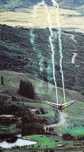 Red Bull photo of John Heiney looping an Ultralight Products TRX hang glider