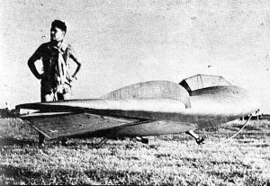 Rogelio Bertolini with Horten glider at Cordoba, Argentina, on January 9th, 1954