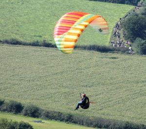 Paraglider flying in 2015
