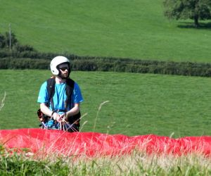 Polish paraglider pilot in England in 2015