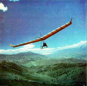 Chris Elison launches in a Hiway Explorer rigid hang glider